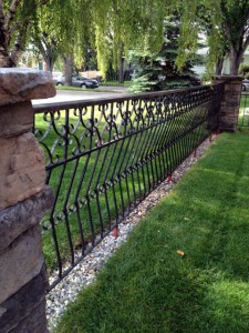 Handcrafted metal fence