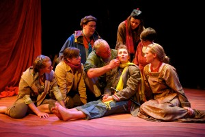 "Cast of ""The Little Prince"" at Rosebud Theatre; Christina Muldoon, second from left"
