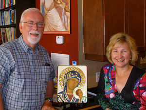 Dr. Mark Charlton and Iconography Instructor Marianna Savaryn