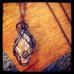 A piece from Lauren Kamp's Flint & Feather Jewelry line