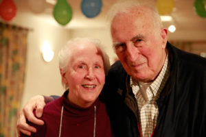 Sue Mosteller and Jean Vanier. Photo by Warren Pot.