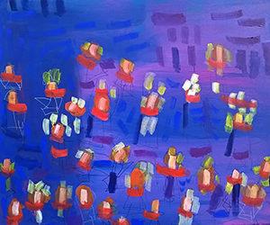 John Molina abstract_Crayons in the Rain